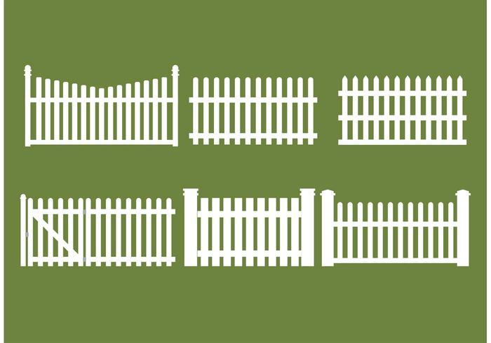 700x490 Straight Picket Fence Vectors