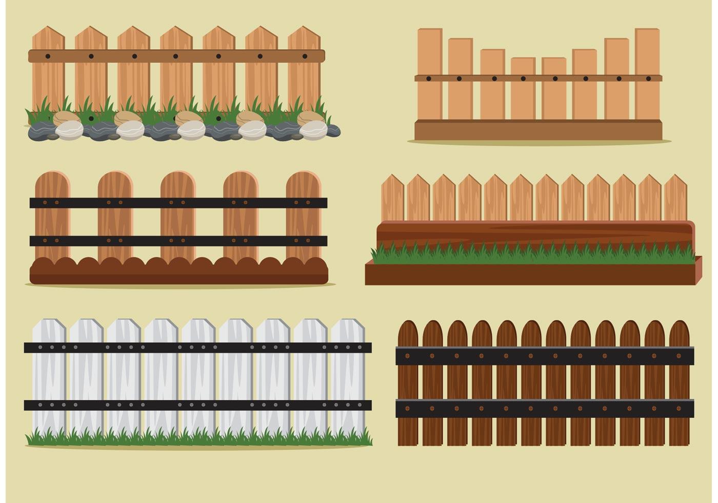 1400x980 Wood Fence Free Vector Art