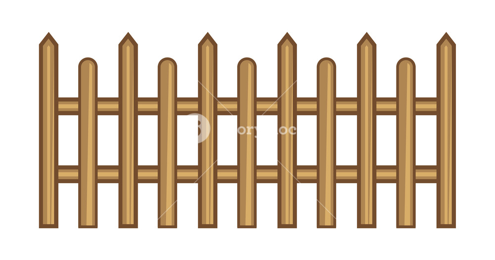 1000x525 Wooden Fence Vector Royalty Free Stock Image