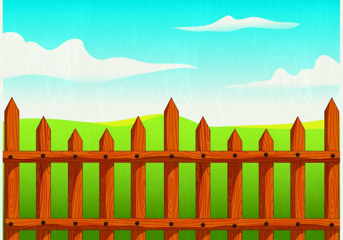1400x980 Wooden Picket Fence Vector Download Free Art Stock