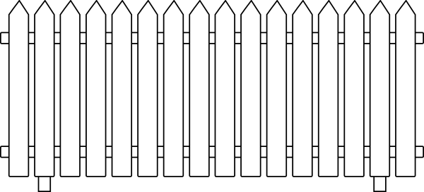 600x273 Collection Of Free Vector Fence Outline. Download On Ubisafe