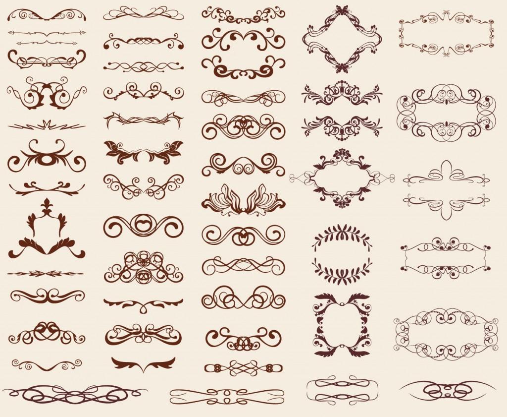 1024x841 Free Calligraphic Vectors