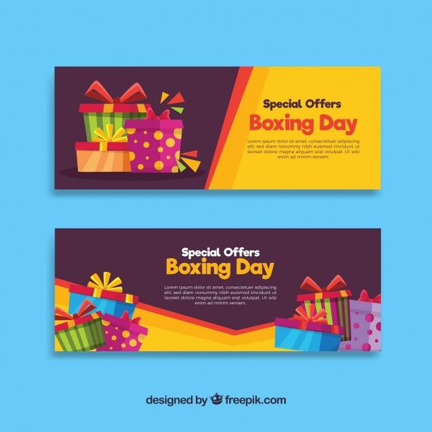 626x626 Free Pik Banner Awesome Boxing Day Sale Banner With Yellow