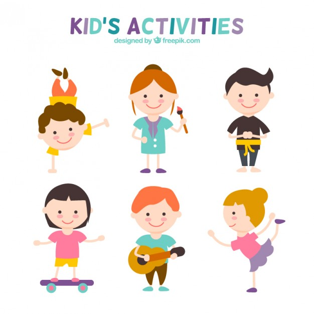 626x626 Kids Activities Set Vector Free Download