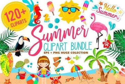 493x330 Summer Clipart Bundle