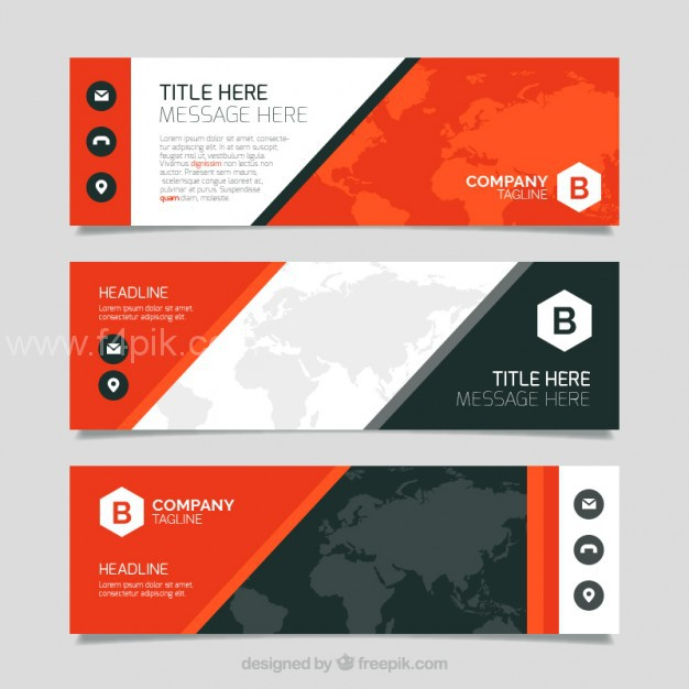 626x626 Vector ] Abstract Banners For Business Free Download