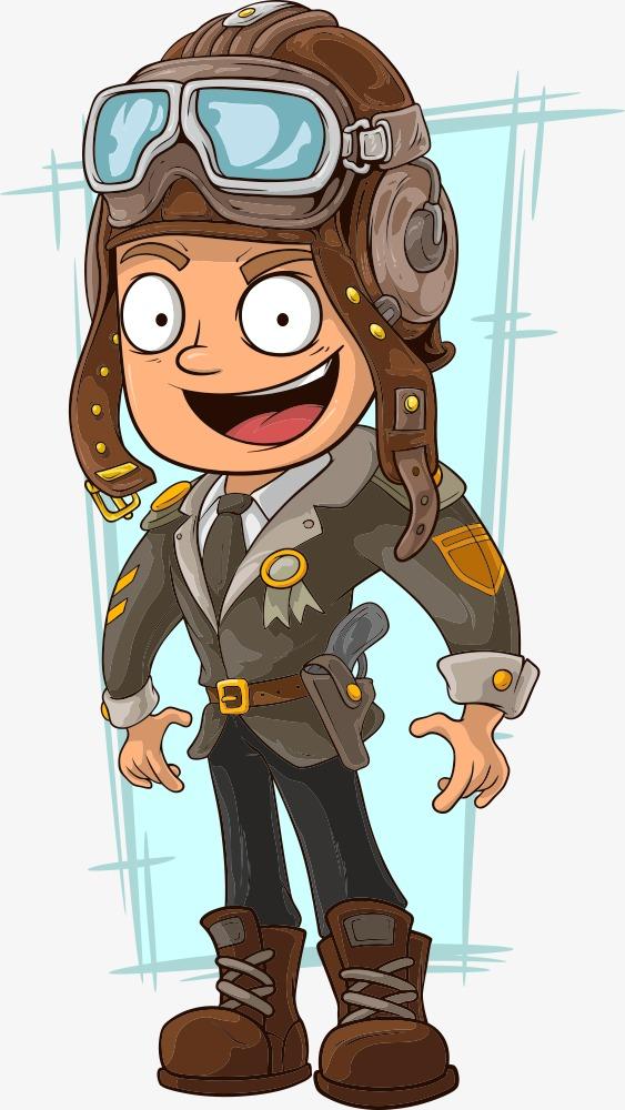 563x1000 Vector Cartoon Pilot, Cartoon Vector, Vector Character, Cartoon
