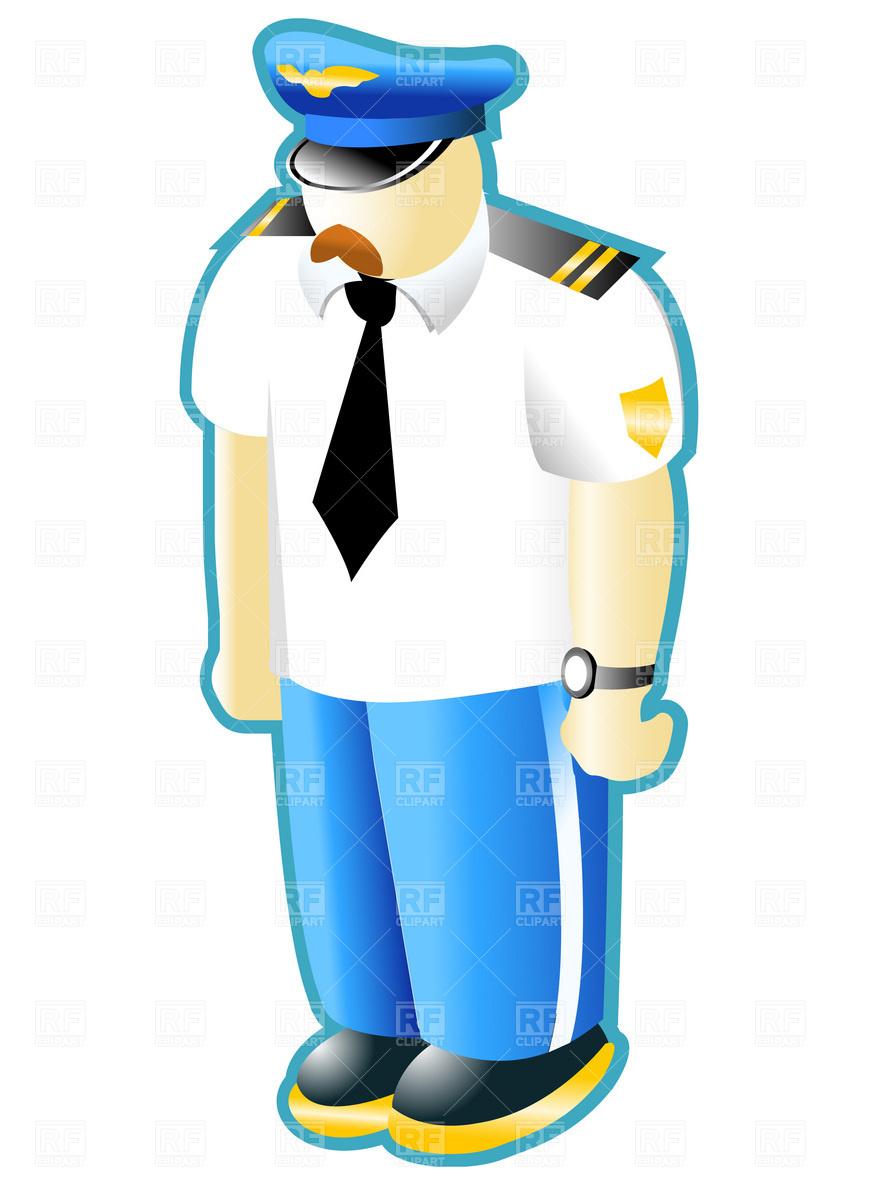 871x1200 Civilian Pilot In Uniform Vector Image Vector Artwork Of People
