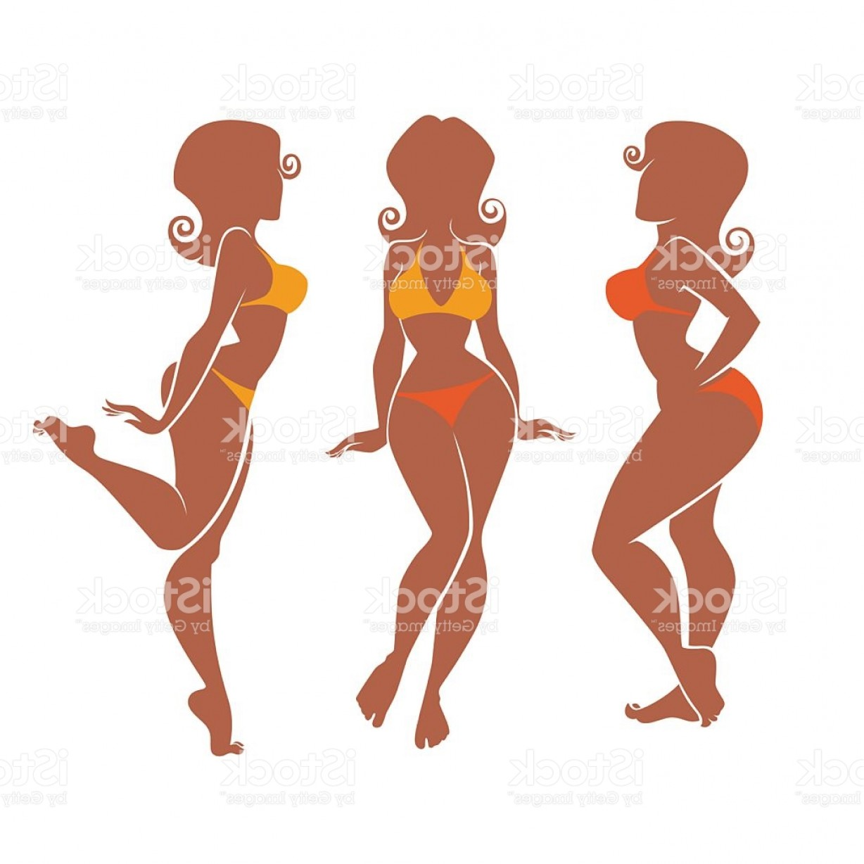 1228x1228 Vector Silhouettes Of Summer Plus Size Pinup Girls Gm Lazttweet