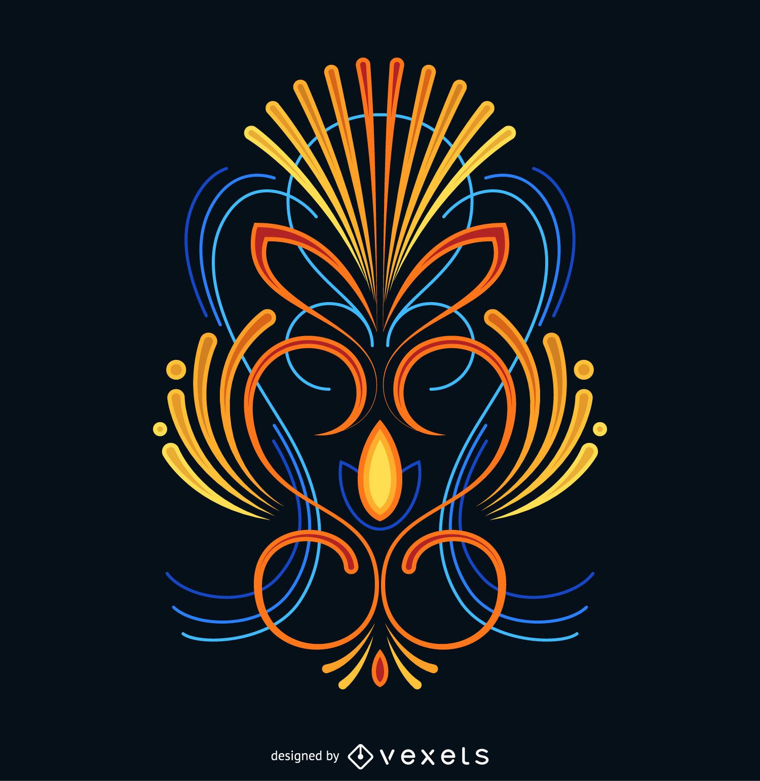 1500x1543 Colorful Pinstripe Design