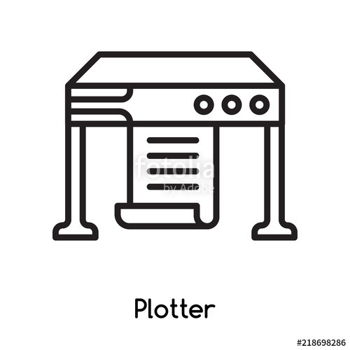 500x500 Plotter Icon Vector Isolated On White Background, Plotter Sign