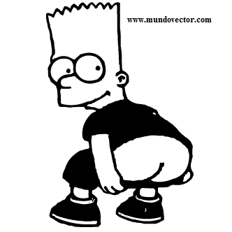 332x332 Bart Simpsons Imagen Vector Plotter Silueta