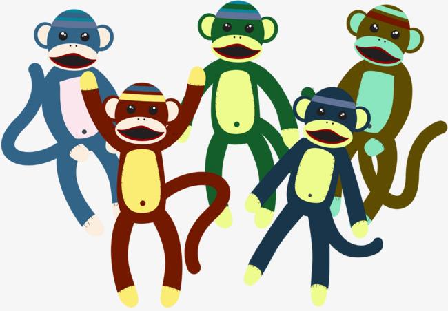 650x452 Cute Monkey Plush Toy Vector, Monkey Vector, Monkey Clipart