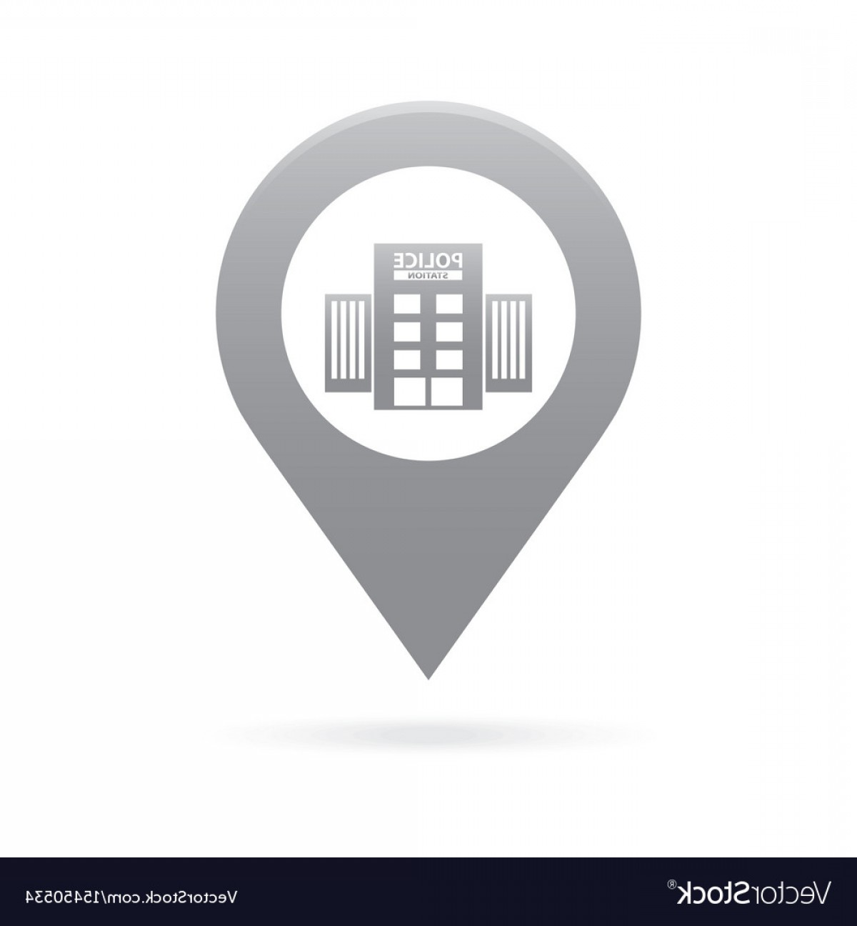 1200x1296 Police Station Map Pointer Icon Marker Gps Vector Orangiausa