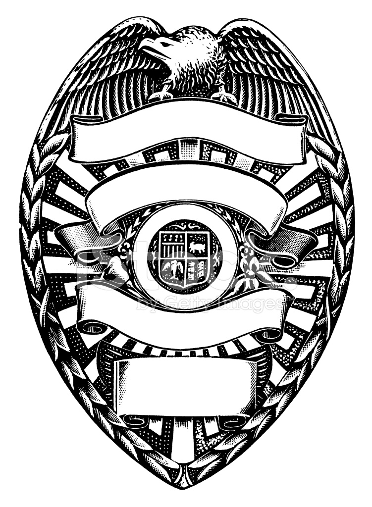 751x1024 Police Badge Stock Vector