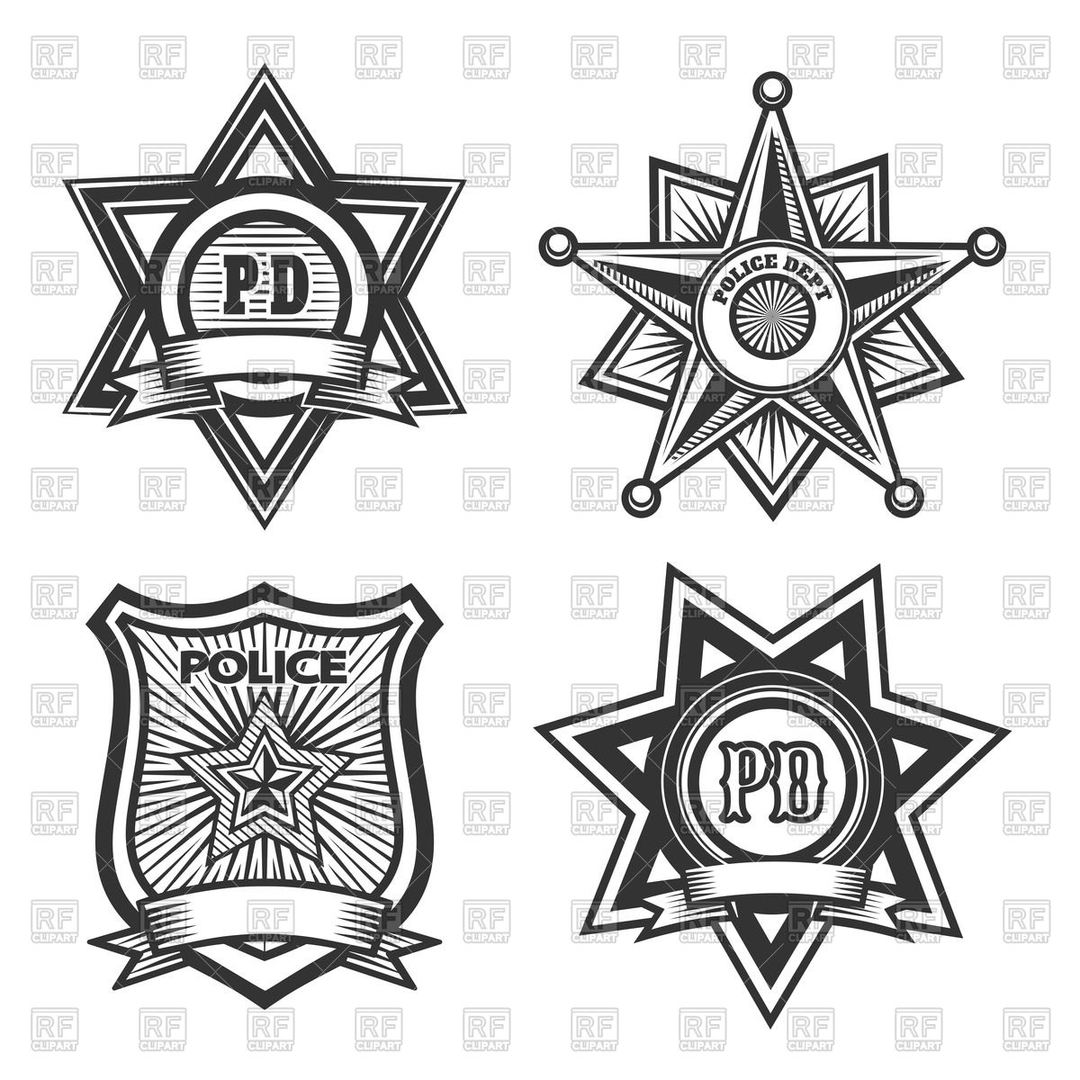1200x1200 Police Badges And Emblems Vector Image Vector Artwork Of Icons