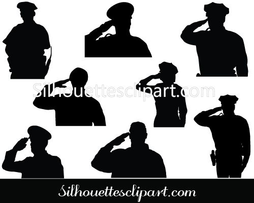 500x400 Police Clipart Silhouette