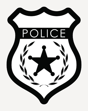 371x464 Vector Police Badge Isolated Illustration Stock Vectors