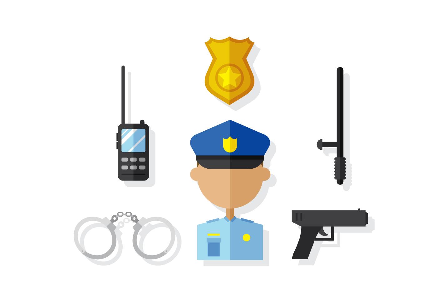 1400x980 Free Vector Police Badge