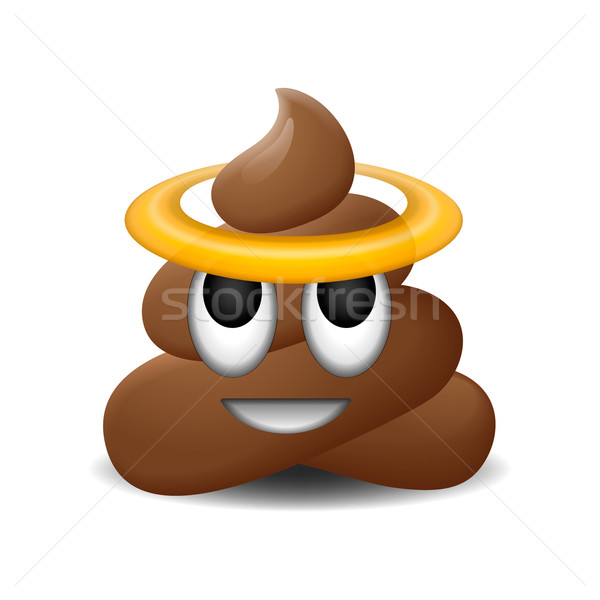 600x600 Emoji Of Holy Shit With Smiley Face Vector Illustration Ivan