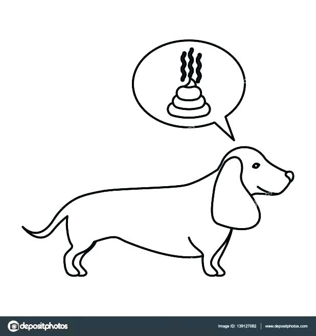 618x657 Poop Coloring Pages Dachshund Coloring