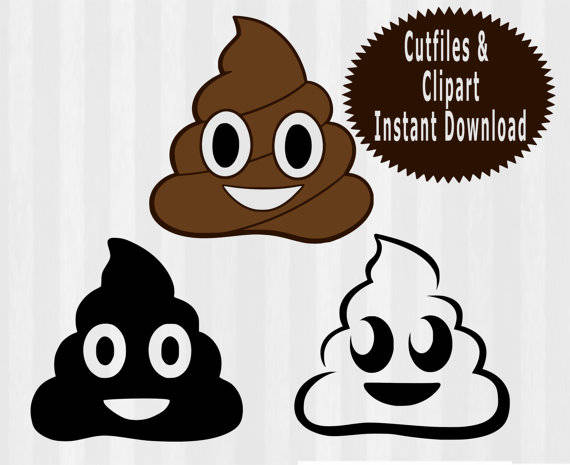 570x465 Poop Emoji Svg File Cutting Template Clip Art For Commercial Etsy