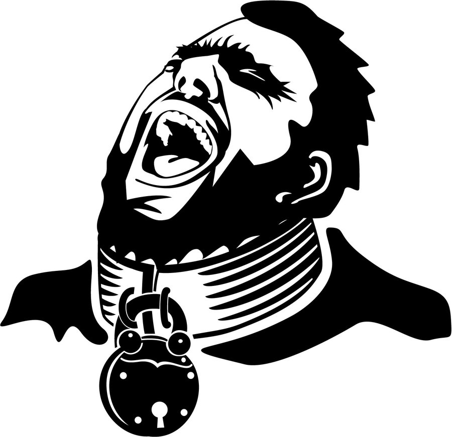 900x871 Man With Padlock On His Neck By Vectorportal