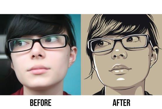 550x370 Simple Portrait Vector 3 Colour By Laksanardie