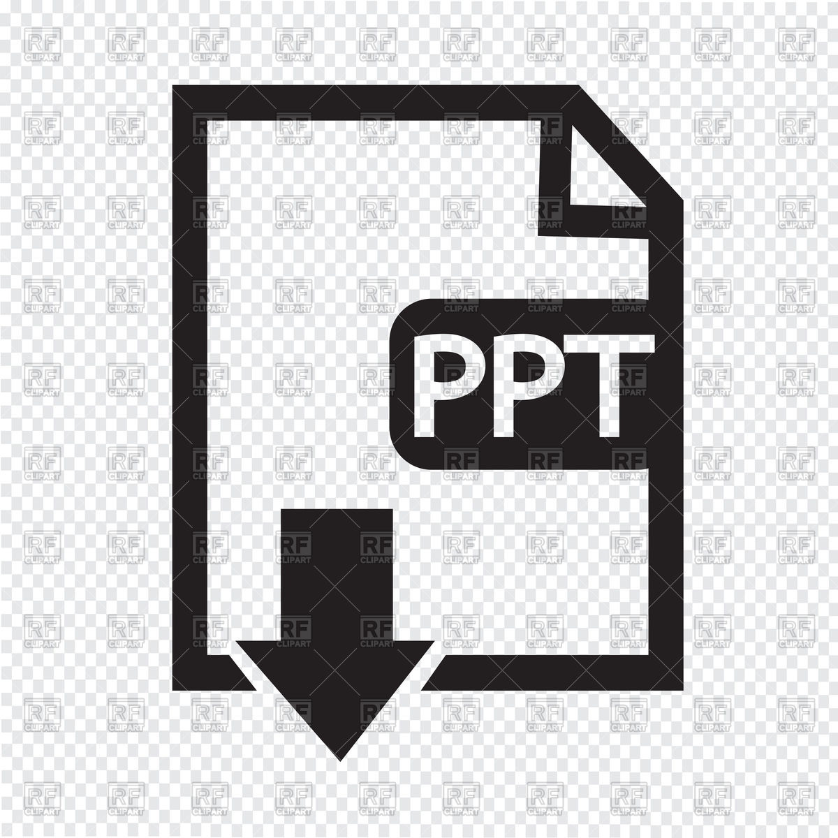 1200x1200 File In Ppt Format Download Icon Vector Image Vector Artwork Of