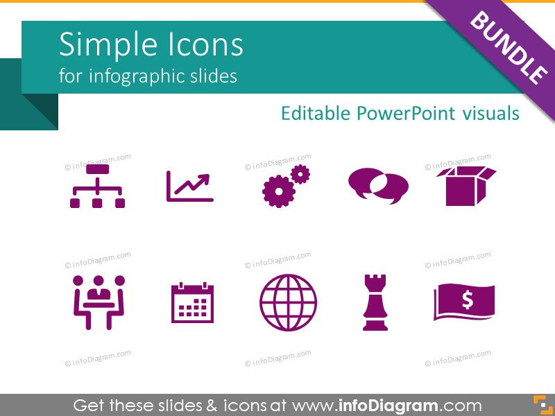 800x600 Modern Flat Icons For Ppt Vector Infographics