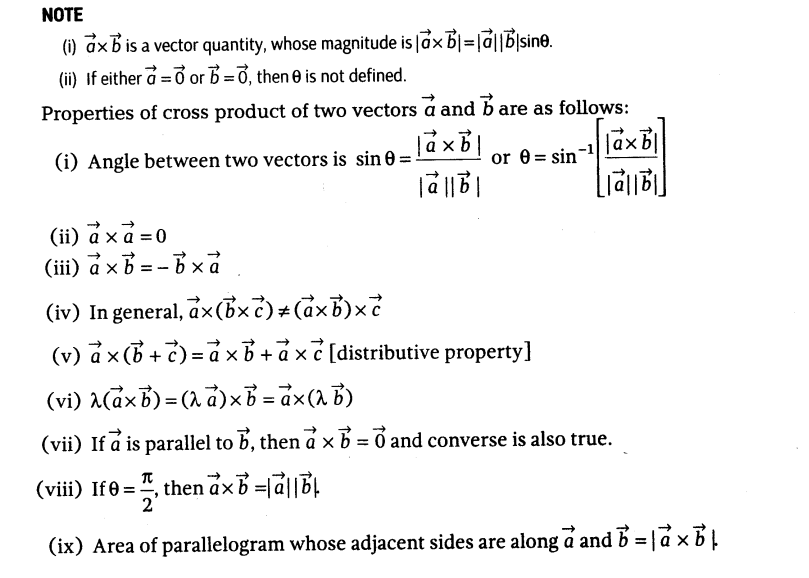 809x578 Important Questions For Cbse Class 12 Maths Dot And Cross Products