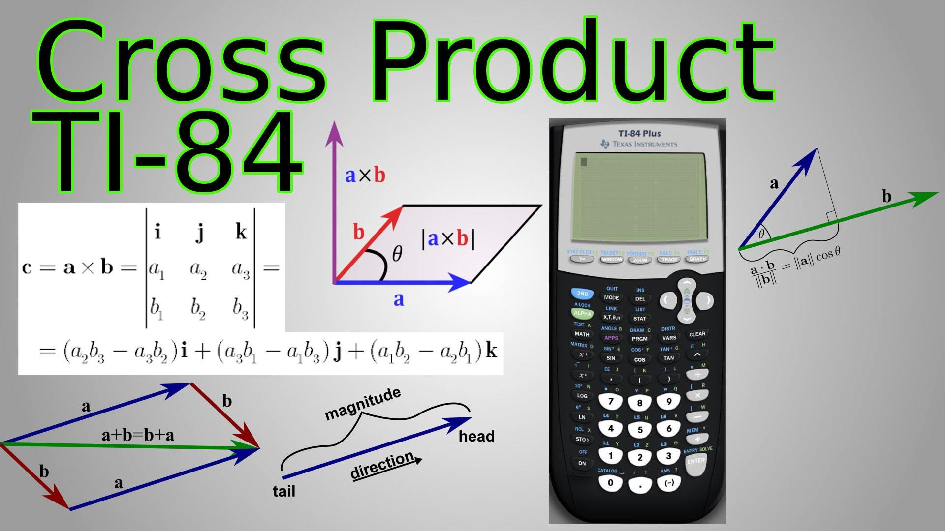 1920x1080 Ti 84 Cross Product Program Amp Dot Product For Vectors (Triple
