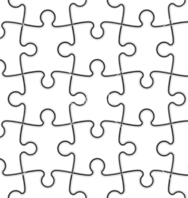 Vector Puzzle Pieces Illustrator