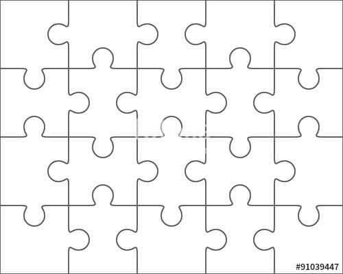 500x400 Puzzle Piece Template Free Colorful Download Pieces Vector