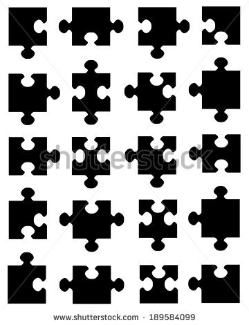 360x470 Puzzle Piece Vector Image Group