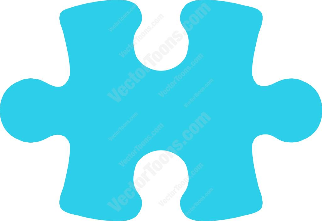 1024x702 Sky Blue Puzzle Piece Clipart By Vector Toons