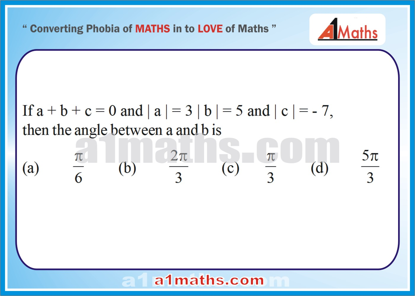 1401x1001 Vectors For Iit Jee Maths Solved Objective Questions 8 A1 Maths