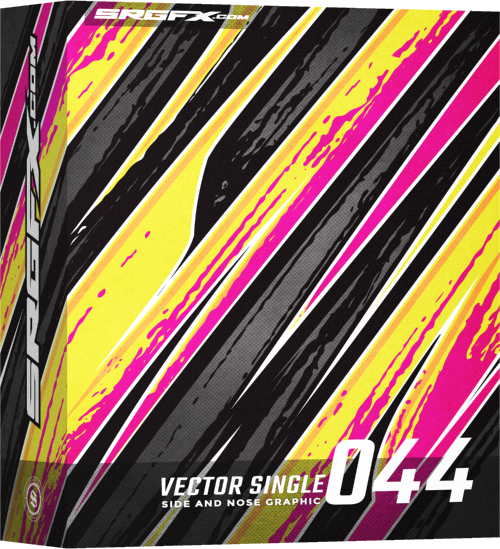 500x549 Vector Racing Graphic Single 044 School Of Racing Graphics