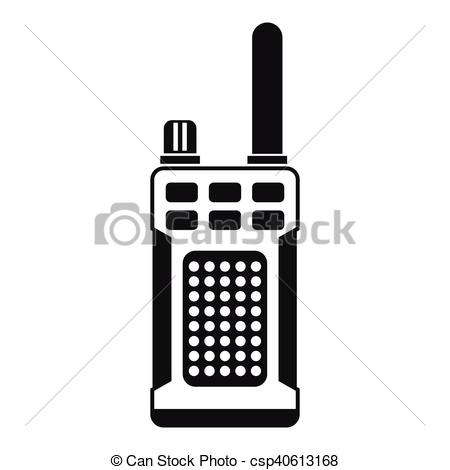 450x470 Portable Handheld Radio Icon, Simple Style. Portable Handheld