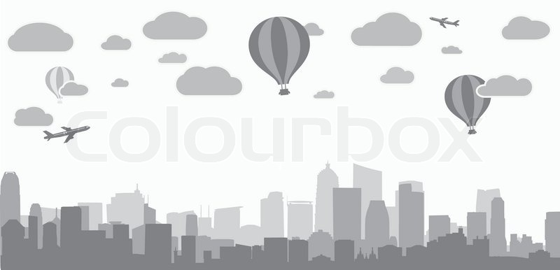 800x386 Vector Illustration Of City Background For Advertising Real Estate
