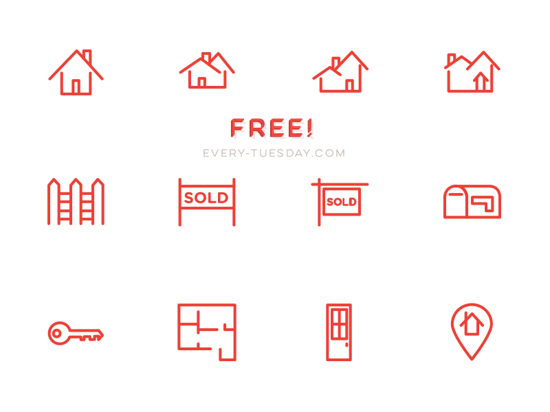 800x600 Free Real Estate Vector Icon Set By Teela Cunningham