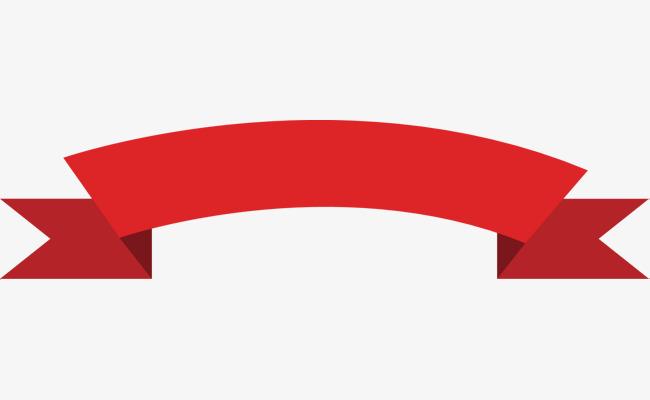 650x400 Vector Hand Painted Red Ribbon, Gules, Silk Ribbon, Vector Diagram