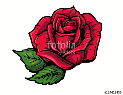 500x384 Red Rose Cartoon Stock Image And Royalty Free Vector Files On