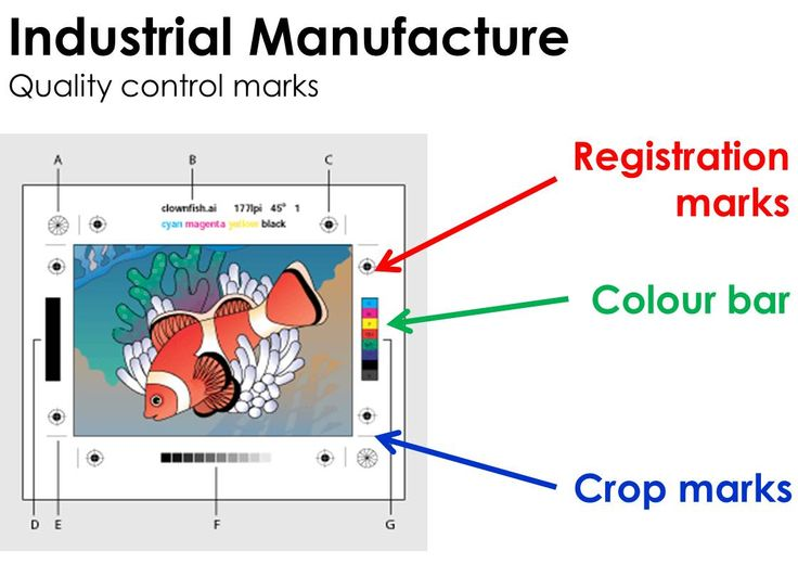 736x520 Registration Mark Vector Crop Marks Colour Bar Trim Marks Book