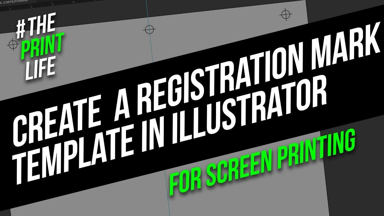 1280x720 Create Registration Marks For Silk Screen Printing In Illustrator