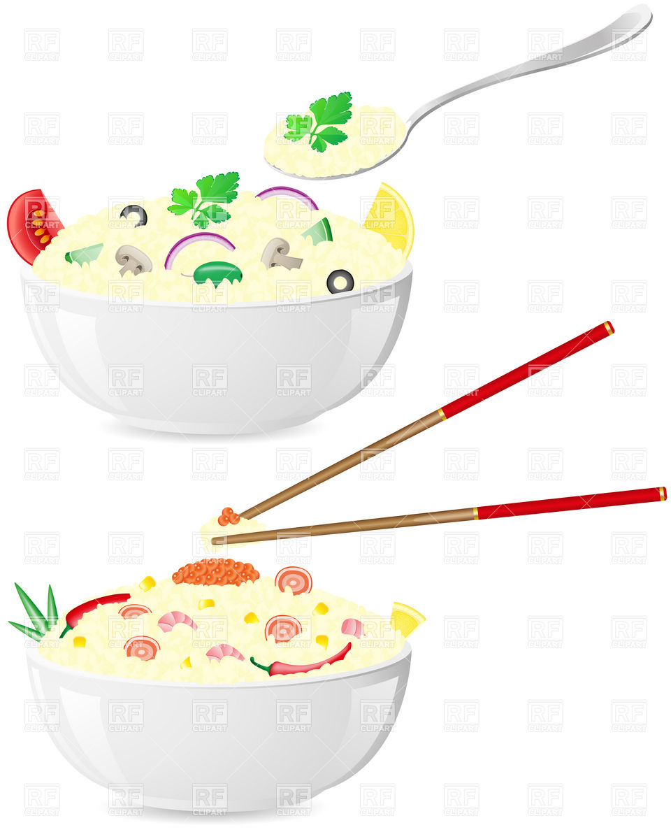960x1200 Italian And Asian Rice Porridge With Vegetables In Bowl Vector