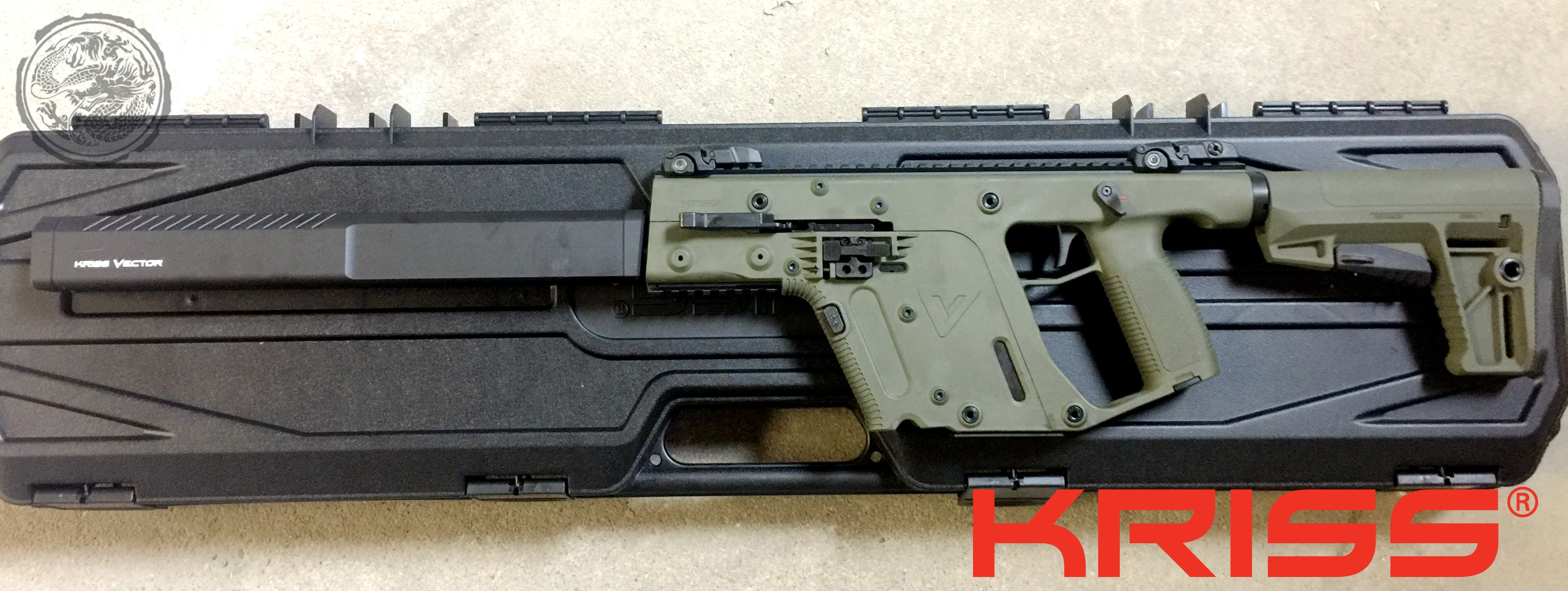 3244x1225 Kriss Vector Gen Ii Crb Enhanced Semi Auto Rifle 18.6 Barrel Od