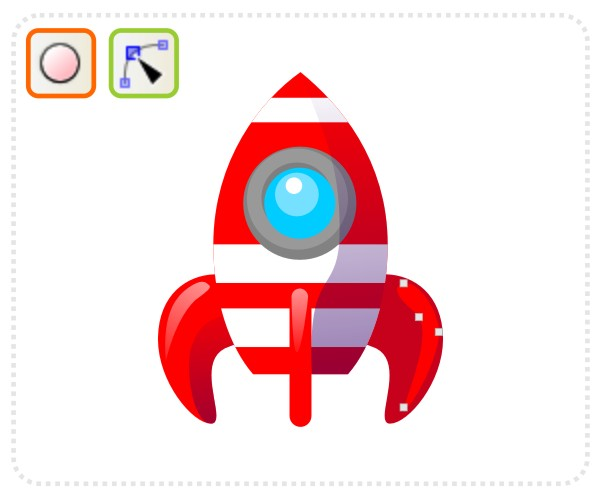 600x500 Quick Tip How To Create A Cartoon Rocketship With Inkscape