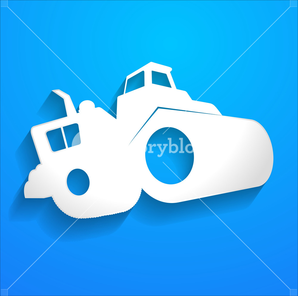1000x993 Road Roller Vector Shape Royalty Free Stock Image