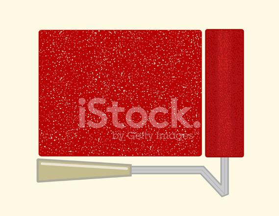 569x440 Rolo De Pintura Stock Vector
